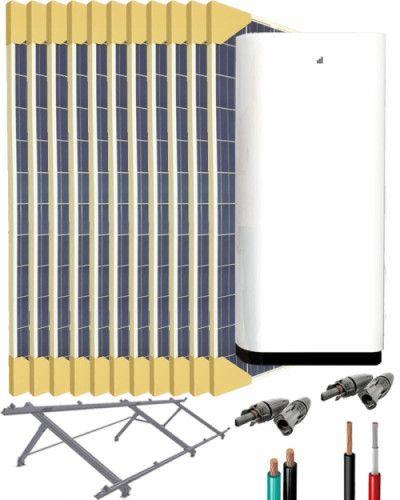 Kit Solar Litio 5000W 35200Whdia con 12kWh de batería