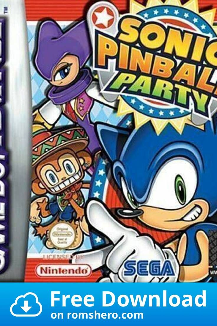 Download Sonic Pinball Party Endless Piracy Gameboy Advance Gba Rom In 2020 Nintendo Game Boy Advance Gameboy Video Game Stores
