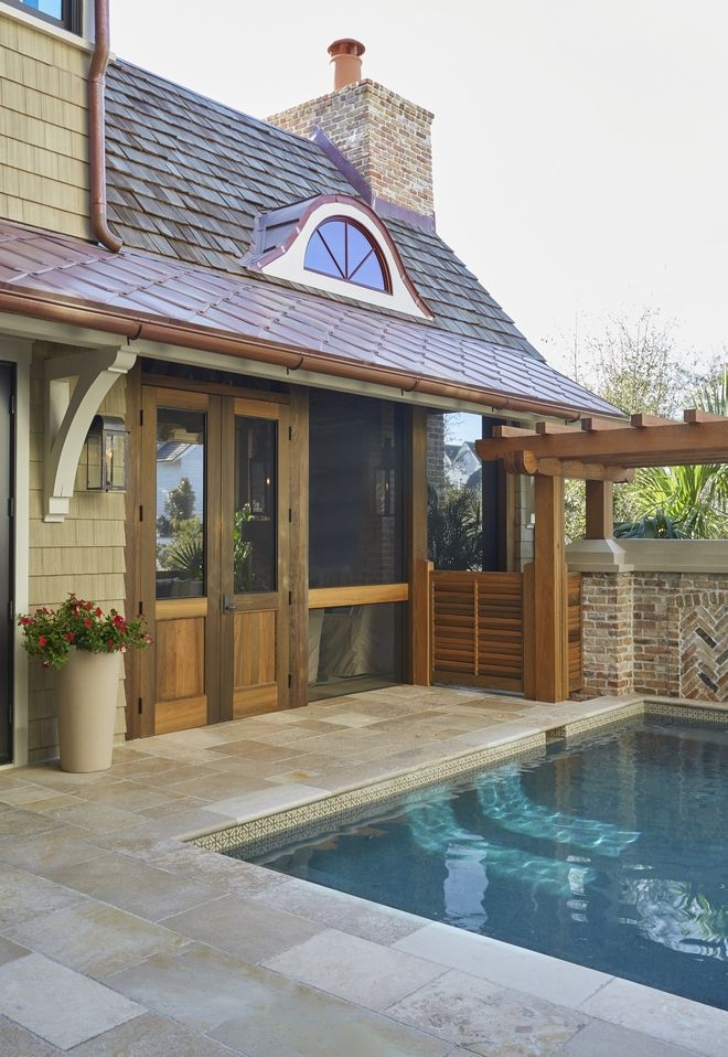 Copper Gutter Copper Gutters And Copper Roof Accent Copper Roof Copper Gutter Copper Roof Metal Roof Copper Sheet In 2020 Sleek Fireplace Beautiful Homes Architecture