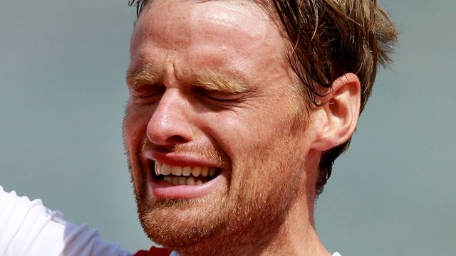 Alan Campbell physically and emotionally drained after giving it everything he had to fight for the Bonze medal in the Mens 1x at London 2012. Sometimes coming in 3rd feels like winning.