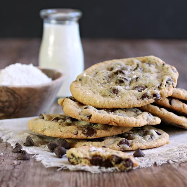 Salted Chocolate Chip Tahini Cookies Recipe Food Recipes