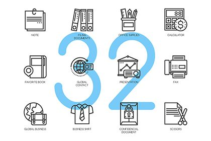 Free 32 Business Essentials Icons