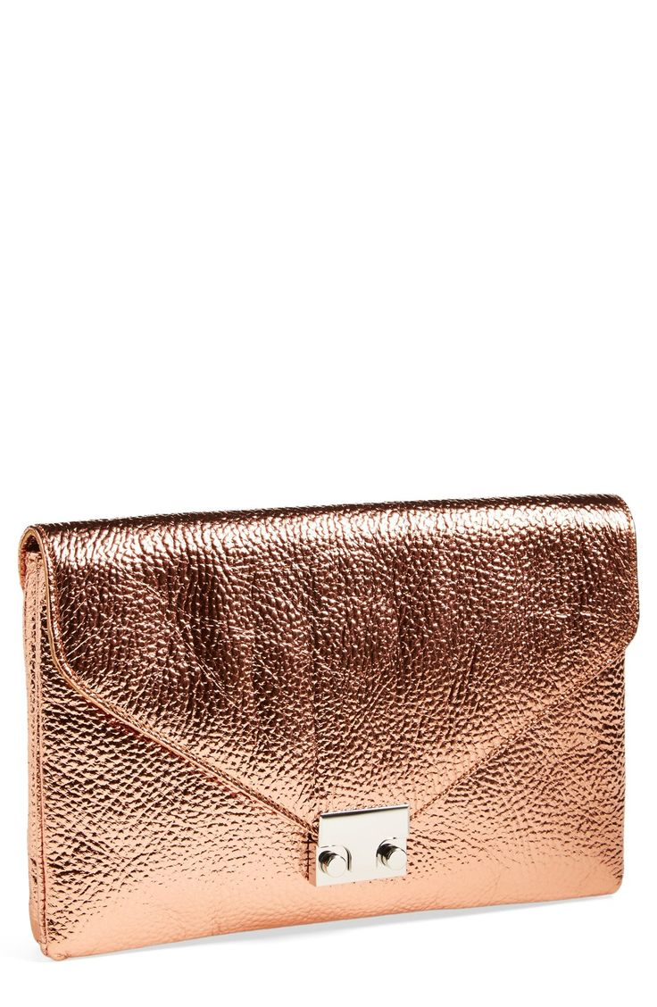 Rose gold clutches.