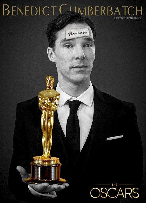 #Oscar Nominee for the part of Alan Turing In The Imitation Game on 15.1.2015 Congratulations Benedict #Cumberbatch  La actuación de Benedict me recordó a un timido e inseguro Sherlock.
