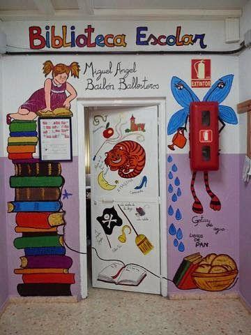 decoración de puertas de bibliotecas infantiles - Buscar con Google