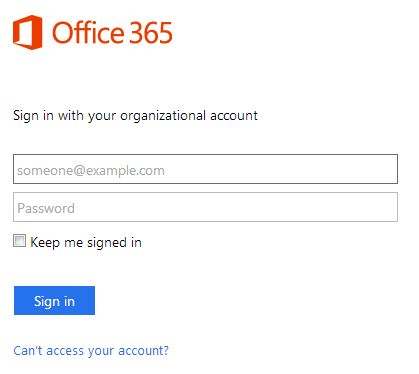 Office 365 Login Page