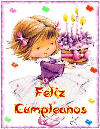 Gifs Animados de Tartas de Cumpleaños para Felicitar - ツ Imagenes y Tarjetas para Felicitar en Cumpleaños ツ