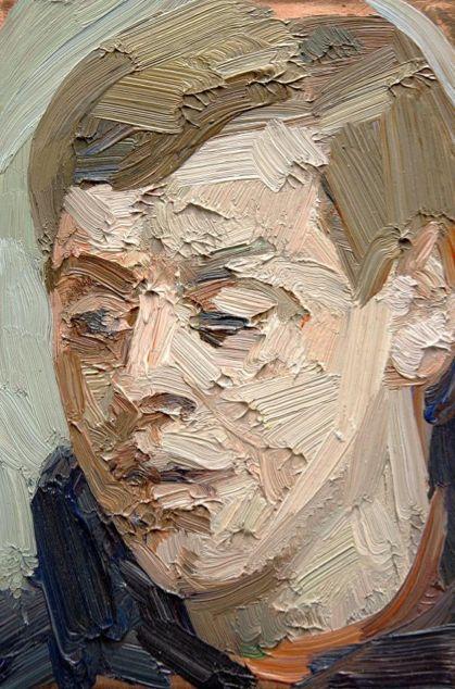 Untitled Portrait 2013, Tai-Shan Schierenberg, Oil on Copper Panel, 10 x 15cm