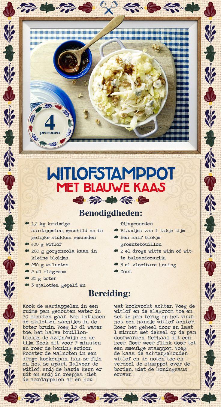Witlofstamppot met blauwe kaas - Lidl Nederland