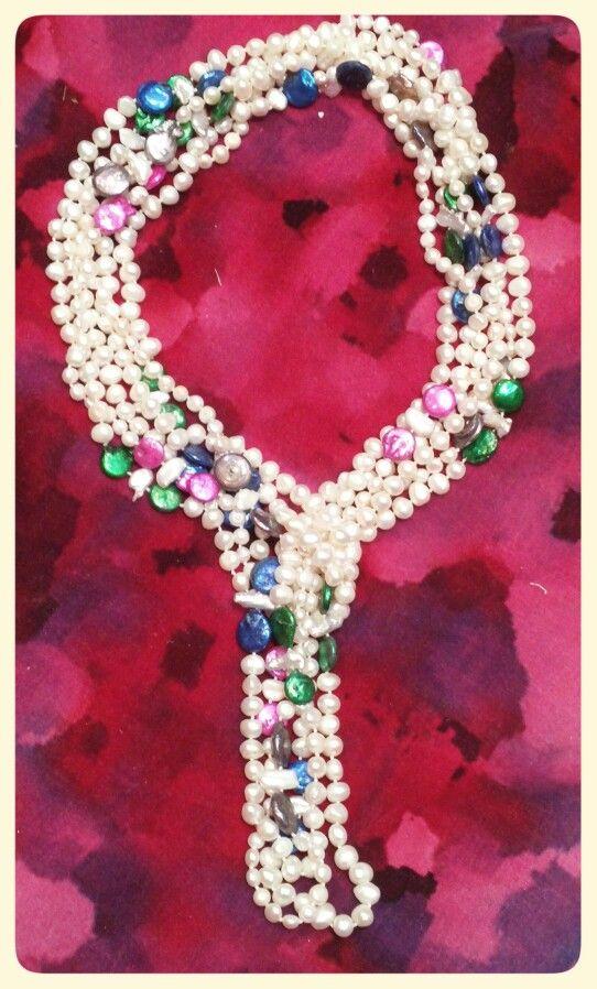 Collares de perlas cultivadas