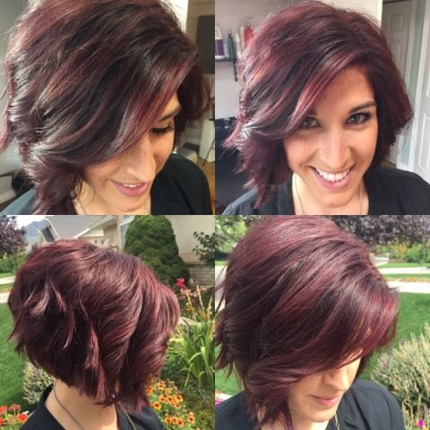 Hairtwist- burgundy purple hair