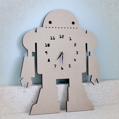 look at this awesome kids clock!  and it's paintable.