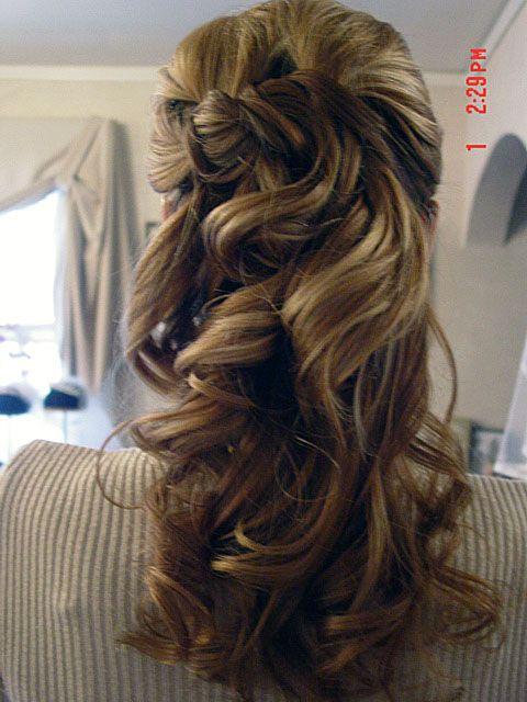 half up half down wedding hairstyles - Buscar con Google