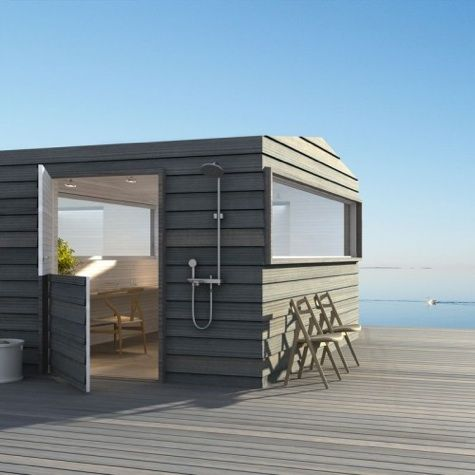 114 best images about cottages cabins bunkies small for Prefab beach homes