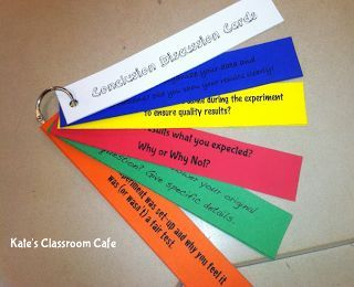 Science Conclusion Discussion Rings.  Quick and effective way to engage kids in conversations about science!