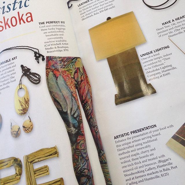 Woohoo. My leggings Featured in #muskokalife magazine's found section. @society6