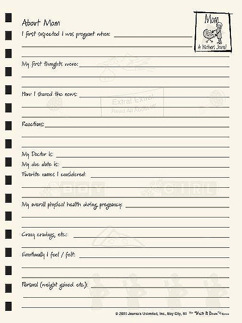 Image detail for -Moms Pregnancy Journal Diary