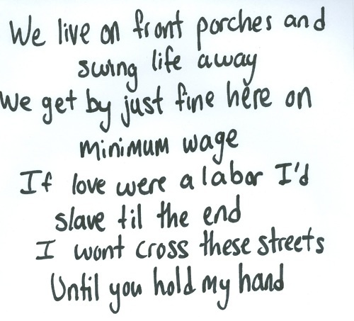 Swing Life Away- Rise Against. One of my favourite bands