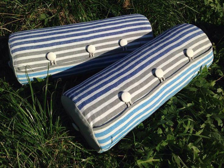 "Подушка-валик ""Винтаж"" - подушка декоративная, подушка, подушка-валик, валик, полосатый"