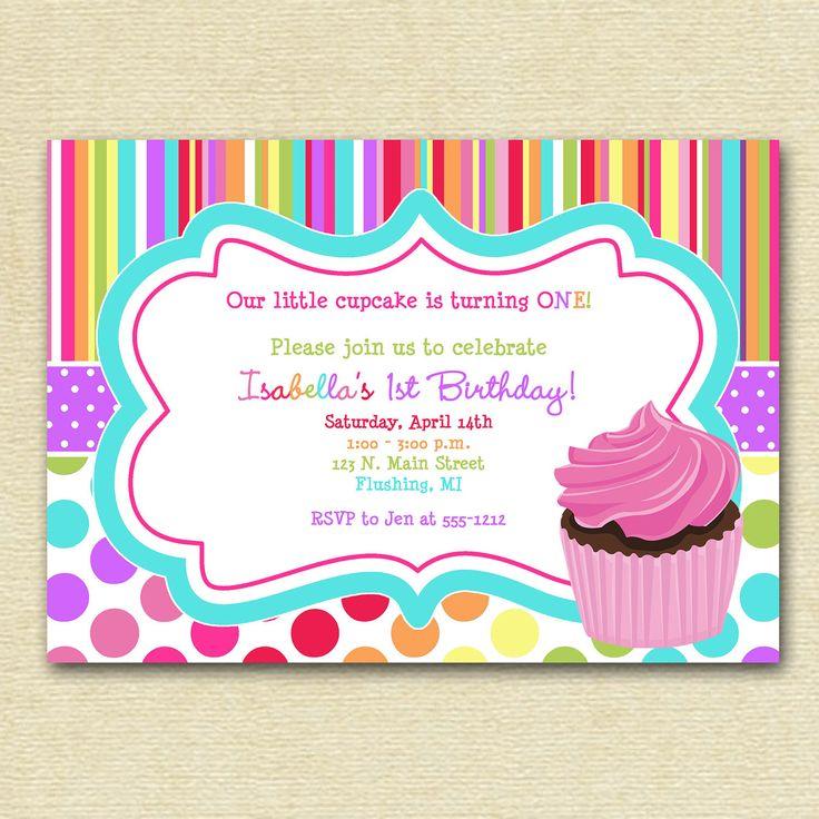 party invitation cupcake invitation colorful cupcake invitation