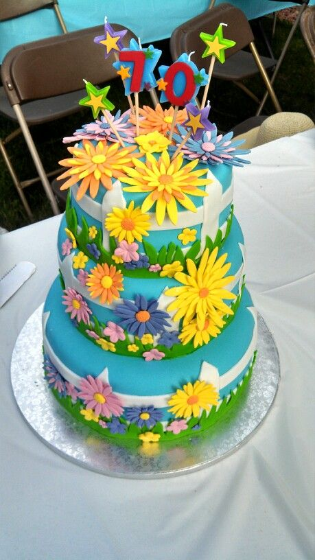 127 best cakes 70th birthday images on pinterest for 70th birthday cake decoration ideas