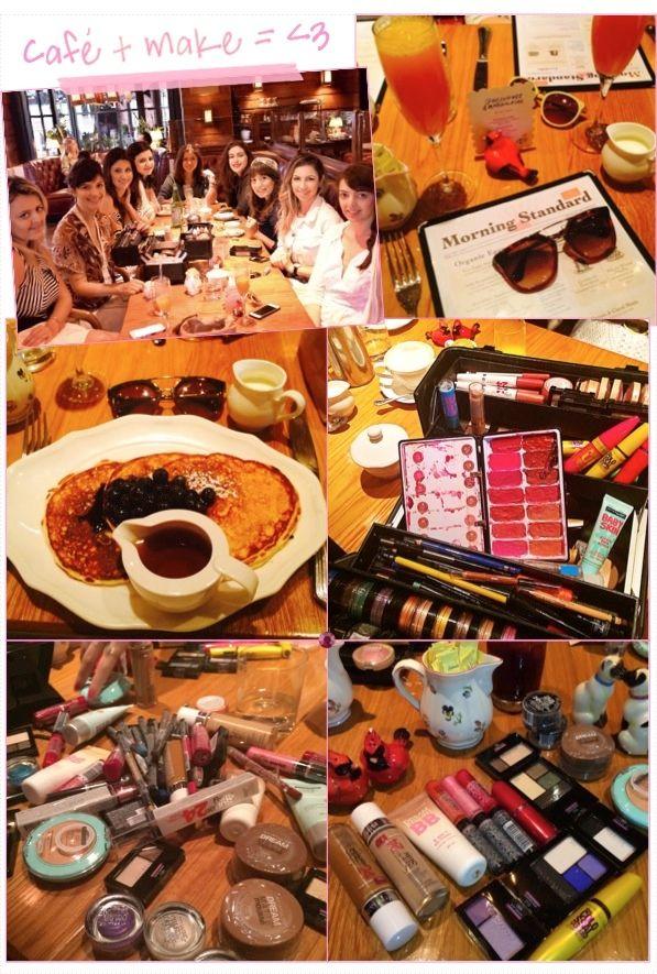 Um dos pontos altos da temporada da NYFW foram alguns compromissos super especiais com a Maybelline. Na última quinta-feira tivemos um café-da-manhã que chegou até o almoço, literamente! Pensa em uma mesa recheada de maquiagens, panquecas, mimosas e mulheres falantes! A alegria foi bem nesse nível gastronômico de beauté ;) Blogueiras reunidas, maquiagens à vontade …