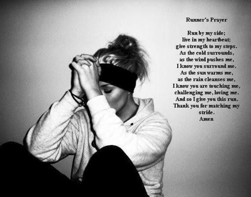 Running prayer... very cool!! @Missy Roddenberry- we need to pray this before the Rock n Roll!
