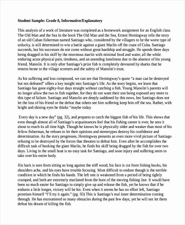 Example Of Informative Writing Best 6 Essay Sample Informational Examples Ideas