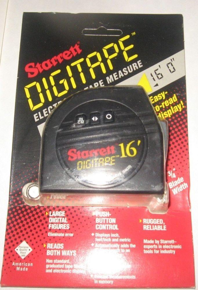 Starrett 3 4 X 16 Digitape Digital Tape Measure New Starrett Starrett Tape Measure Digital