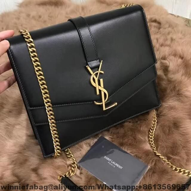 6495352cd092d Saint Laurent Medium Sulpice Bag in Smooth Leather 2018