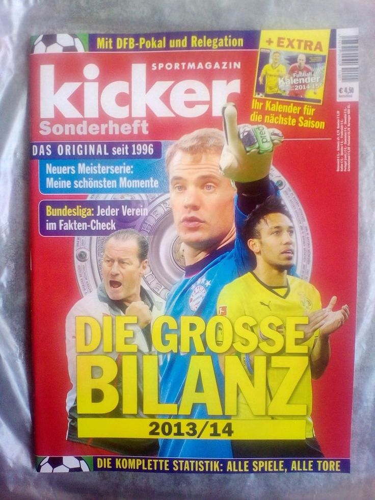 Kicker!BUNESLIGA!Sonderheft 2013/14!NEU! Kicker, Neue