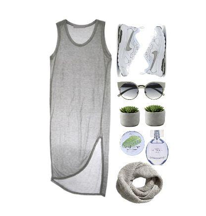 Платье-майка с кроссовками Nike
