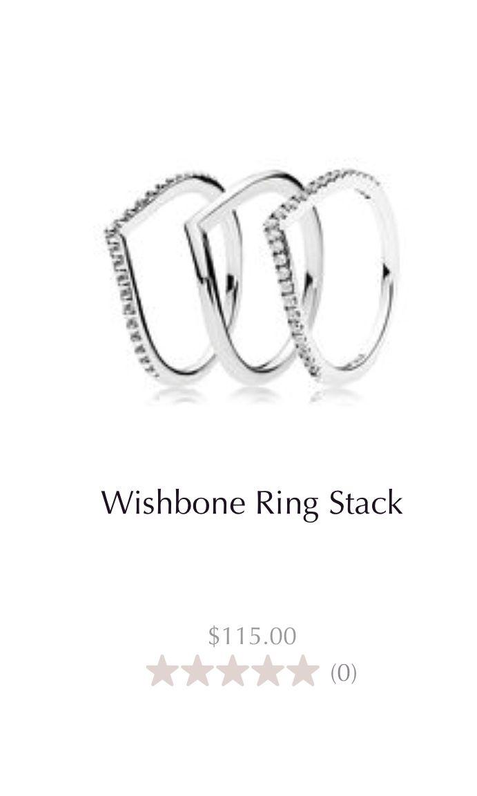 2209c1d87 Pandora wishbone ring stack | Wishlist in 2019 | Pandora rings ...