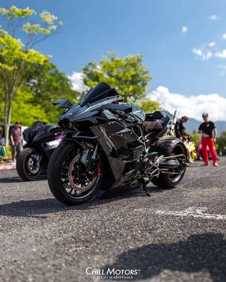 Kawasaki H2R!😈 in 2020 Suzuki bikes, Honda bikes, Sport