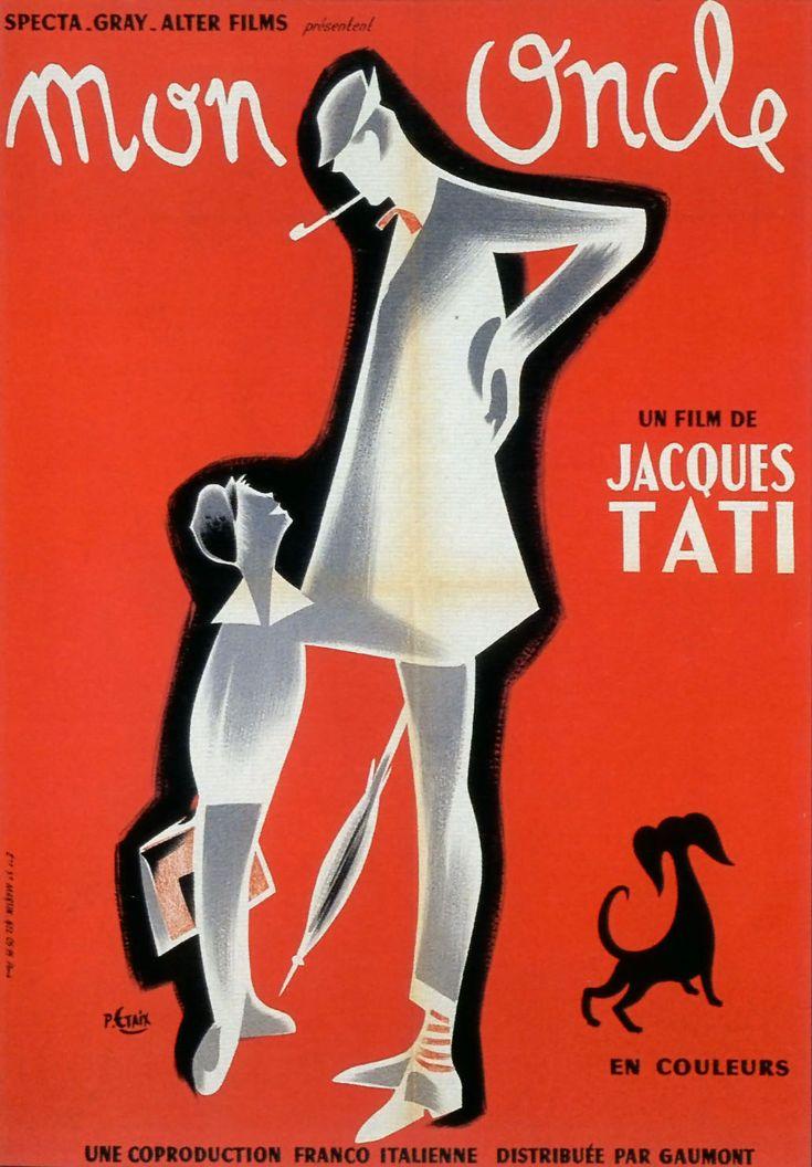 """L'oncle de plus célèbre du cinéma français revient au cinéma ! """"Mon oncle"""" de Jacques Tati ressort sur les écrans. Un classique pour les enfants à partir de 9 ans. Monsieur Arpel, riche industriel qui vit dans une maison futuriste veut éviter que son beau-frère rêveur et bohème, M. Hulot, n'influence son fils."""