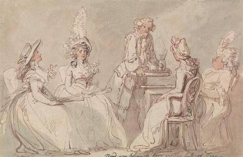 Thomas Rowlandson, Ladies at Tea  1790-1795
