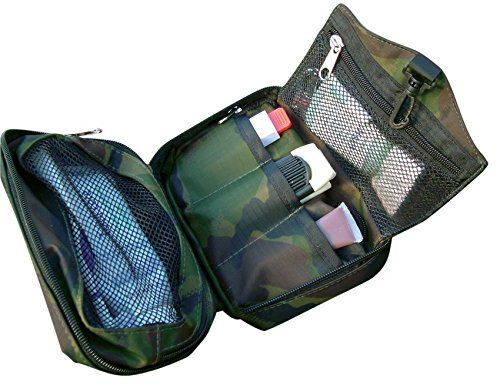 Bushcraft Aqua - Bolsa de aseo (40 x 18 x 2cm), diseño de camuflaje