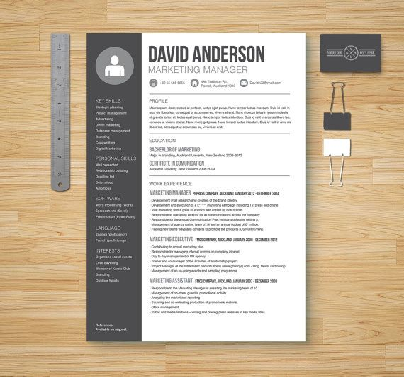 Resume + Cover Letter + Reference Page Microsoft Word Template - resume ms word template