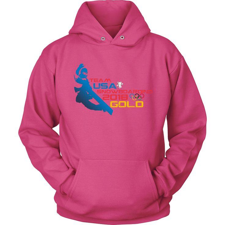 Team USA Snowboarding 2018 Gold Women's Hoodie