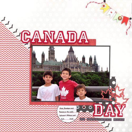 Canada Day Layout by Dawn Brittian