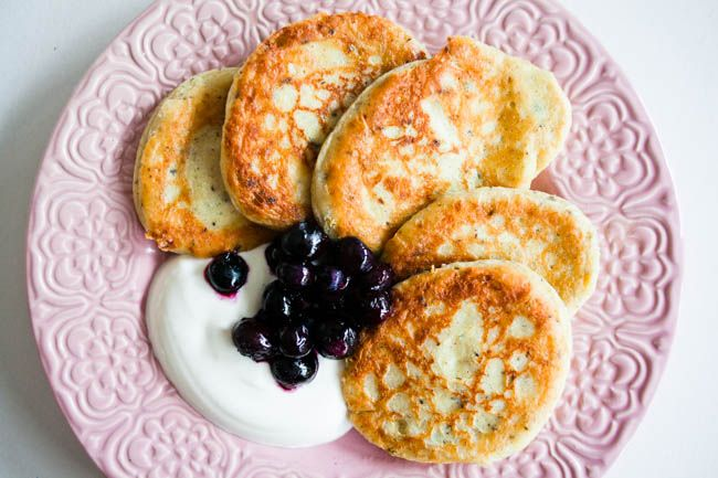 Cottage cheese/protein pancakes
