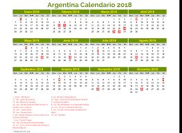Resultado de imagen para calendario 2018 argentina