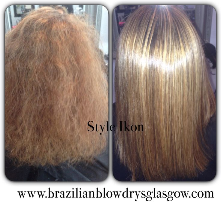 Brazilian Blowdry before after by style ikon