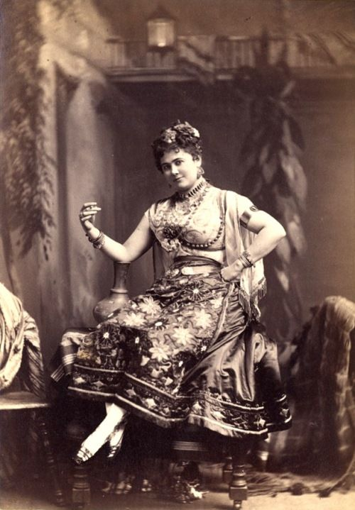 """When the U.S. operatic soprano Minnie Hauk (1851–1929) first toured Europe in 1868, her instant success was due largely to shrewd marketing by her teacher and manager Maurice Strakosch.    Capitalizing on Hauk's childhood on the American prairie, Strakosch's advance publicity described her as """"a kind of half-civilized Pocahontas, who, back in the wilds of her homeland, was accustomed to riding a mustang bareback and being worshipped by the continent's aborigines as a 'dusky daughter of the…"""