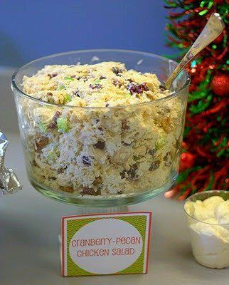 Day 4 of 12 Days of Christmas Fun: Cranberry-Pecan Chicken Salad - Food Folks and Fun