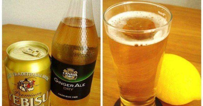 【シャンディ・ガフ】  味:ビールの苦味をジンジャーエールが和らげた、さわやかで飲みやすいカクテル  シェイカー:不要  材料:  ・ビール  ・ジンジャーエール