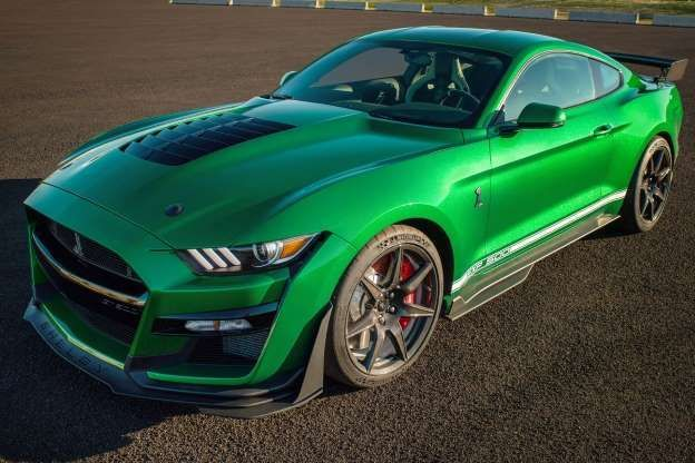 2020 Ford Mustang Shelby Gt500 Vin 001 Rolls Off Line In Candy Apple Green In 2020 Ford Mustang Shelby Gt500 Ford Mustang Shelby Mustang Shelby
