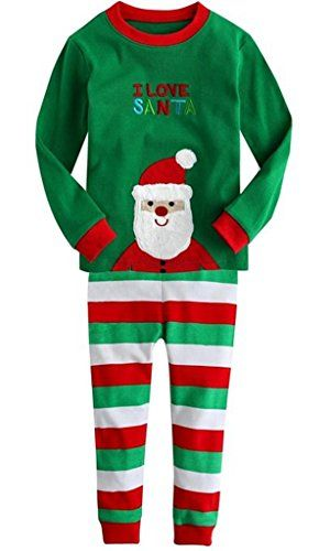 LOSORN ZPY Baby Boys Girls Christmas Santa Pajamas Shirt fashion