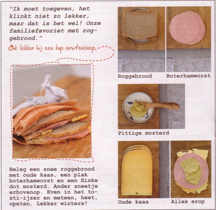 tosti roggebrood recept Edith Vervest Vers-Branding  voor bakkerij van Heeswijk