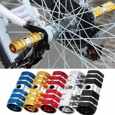 2 x Hexagonal Axle Pedal Aluminum Alloy Foot Stunt Pegs for BMX Bicycle Cycling